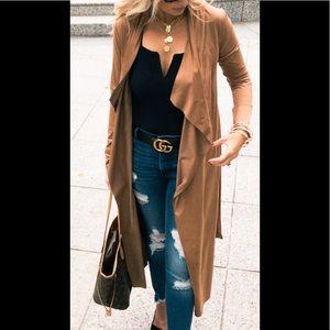 NWT Camel Suede Jacket
